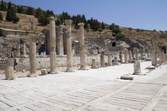 Oude ruïnes in Ephesus Royalty-vrije Stock Foto