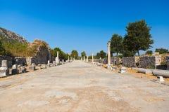 Oude ruïnes in Ephesus Turkije Royalty-vrije Stock Foto's