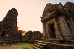 Oude ruïnes in het Noorden - oostelijk Thailand Stock Foto's