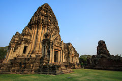 Oude ruïnes in het Noorden - oostelijk Thailand Stock Foto