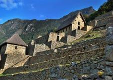 Oude ruïnes Inca van Machupicchu Stock Afbeeldingen