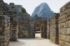 Oude ruïnes Inca van Machupicchu Royalty-vrije Stock Afbeeldingen
