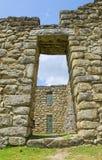 Oude ruïnes Inca van Machupicchu Stock Foto