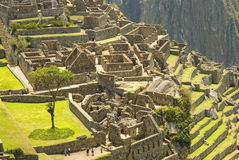 Oude ruïnes Inca van Machupicchu Stock Fotografie