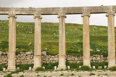 Oude ruïnes Jerash Jordanië Stock Afbeelding