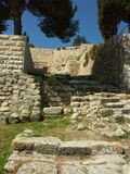 Oude ruïnes in Jeruzalem Stock Afbeeldingen