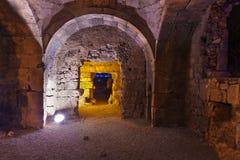 Oude ruïnes in Kant, Turkije bij zonsondergang Royalty-vrije Stock Fotografie
