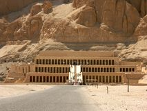 Oude ruïnes in Luxor Egypte royalty-vrije stock foto's