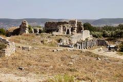 oude ruïnes in Milet, Turkay royalty-vrije stock fotografie