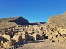 Oude ruïnes in Oman royalty-vrije stock fotografie