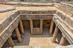 Oude ruïnes in Paphos op Cyprus stock afbeeldingen