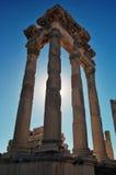 Oude ruïnes in Pergamon, Turkije Royalty-vrije Stock Fotografie