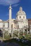 Oude ruïnes - Rome Stock Fotografie