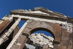 Oude ruïnes in Rome Royalty-vrije Stock Foto