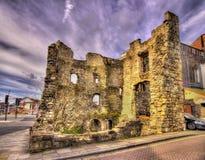 Oude ruïnes in Southampton - Hampshire Royalty-vrije Stock Fotografie