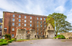 Oude ruïnes in Southampton - Hampshire Royalty-vrije Stock Afbeeldingen
