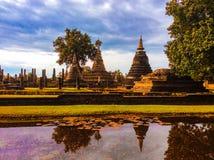 Oude Ruïnes Thailand Stock Foto's