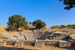 Oude ruïnes in Troy Turkije Stock Foto's