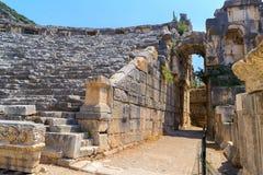 Oude ruïnes in Turkije Stock Foto's
