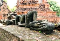 Oude ruïnes van Boeddhisme stock afbeelding