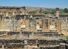 Oude ruïnes van Capernaum Royalty-vrije Stock Afbeelding