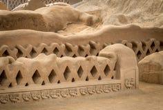 Oude ruïnes van Chan Chan - Trujillo, Peru royalty-vrije stock afbeelding