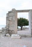 Oude ruïnes van de muren van oude stad Hersones Stock Fotografie