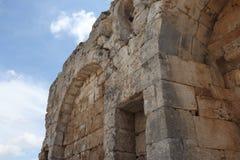 Oude ruïnes van de stad van Turkije stock foto's