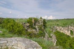 Oude ruïnes van een middeleeuwse vesting Royalty-vrije Stock Fotografie