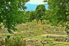 Oude ruïnes van Grieken stock fotografie