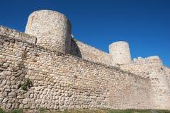 Oude ruïnes van het kasteel van Burgos Stock Foto's