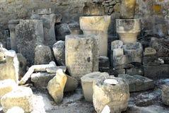 Oude ruïnes van hystorical akropolis Stock Foto