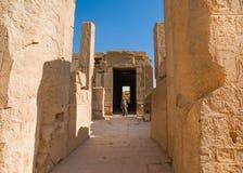 Oude ruïnes van Karnak in Luxor Royalty-vrije Stock Foto's