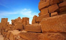 Oude ruïnes van Karnak-tempel in Luxor royalty-vrije stock foto