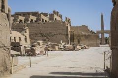 Oude ruïnes van Karnak-tempel in Luxor Egypte royalty-vrije stock afbeelding