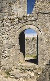 Oude ruïnes van kasteel in Skoder, Albanië royalty-vrije stock foto