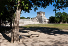 Oude Mayan stad - Chichen Itza Stock Foto