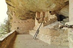 Oude ruïnes van Mesa Verde in Amerika stock fotografie