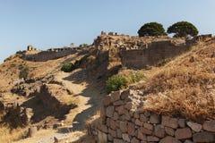 Oude ruïnes van Pergamon Royalty-vrije Stock Foto's