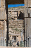 Oude ruïnes van Persepolis, Iran Stock Foto