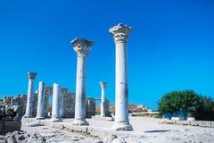 Oude ruïnes van Tauric Chersonese stock foto