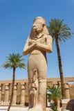 Oude ruïnes van tempel Karnak in Egypte Royalty-vrije Stock Foto