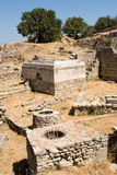 Oude ruïnes van Troy royalty-vrije stock afbeeldingen
