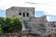Oude Ruïnes van Tulum stock afbeelding