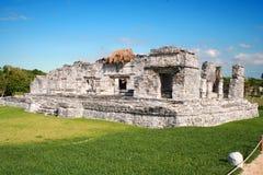 Oude ruïnes van tulum in Mexico Stock Afbeeldingen