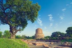 Oude ruïnes Varanasi royalty-vrije stock foto's
