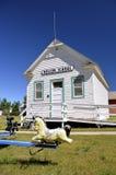 Oude ruimteschoolgebouw Royalty-vrije Stock Afbeelding