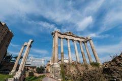 Oude ruines van Rome Royalty-vrije Stock Foto's