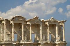Oude ruïnes in Ephesus Stock Afbeeldingen