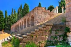 Oude ruïnes in Griekenland Stock Foto